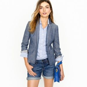 J. Crew chambray denim blazer